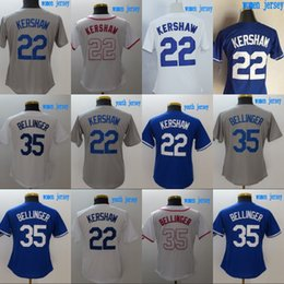 Wholesale cheap woman shorts - Lady and Youth Los Angeles Jersey 22 Clayton Kershaw 35 Cody Bellinger 100% Stitched Baseball Jerseys Cheap White Blue Grey Free Shipping