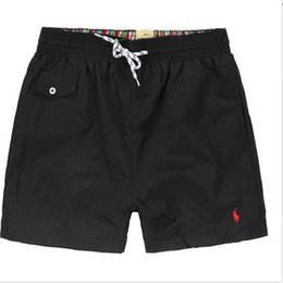 Wholesale rash guard clothing - 2018 Wholesale-Summer Men polo Short Pants Brand Clothing Swimwear Nylon Men Brand Beach Shortshorts Small horse Swim Wear Board Shorts 2018
