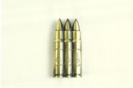 Wholesale Metal Bullet Lighters - Bullet head lighter creative military model lighter clear fire wheel lighter