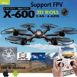 Wholesale Copter Motors - MJX X600 2.4G RC quad copter drone rc helicopter 6-axis can add C4002&C4005 camera(FPV) R C quadcopter (Ship with Small package)