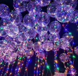 luces de helio Rebajas 2017 Nuevo Light Up Toys LED String Lights Flasher Iluminación Balloon Wave Ball 18 pulgadas Helio Globos Navidad Juguetes de Decoración de Halloween