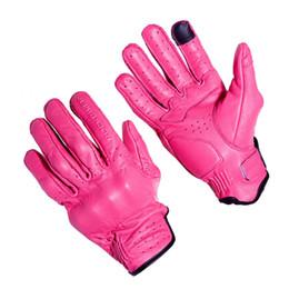 Мотоциклетные перчатки байкер онлайн-Rock Biker Women Pink Leather Motorcycle Gloves Full Finger Outdoor Sport Cycling 02326 Gloves Ladies' Guantes de Moto