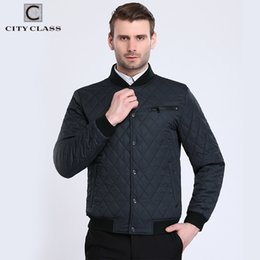 Wholesale City Motorcycles - City Class 2017 Bomber Jacket Men Fashion Quilted Jackets Flight Pilot Brand Coats Motorcycle Male Casacos Brand Clothing 17904