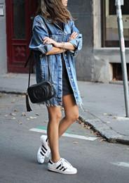casacos de inverno equipados para mulheres Desconto Mulheres Casaco Básico Denim Jaqueta de Inverno Denim Para As Mulheres Jeans Jaqueta Mulheres Denim Casaco solto ajuste estilo casual