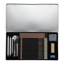 Eliminador de lápis de desenho on-line-Lápis De Pintura de luxo Borracha Apontador de Lápis Conjunto de Segurança Suave Não-tóxico Padrão HB 2B 4B Drawing Sketching Lápis WJ-B G52