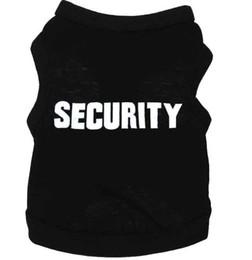Novo Cão Vestuário Moda Bonito Filhote de Cachorro Do Animal de Estimação de Segurança Algodão Camiseta Regatas Tee Roupas vestuário vestuário de