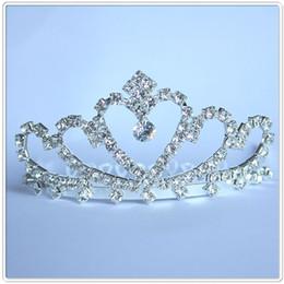 Wholesale Hair Accessories Carnival - Mejorme New Frozen Crown Twinkle Hair Accessories For Girls Princess Bridal Crown Crystal Diamond Tiara Hoop Headband Hair Bands