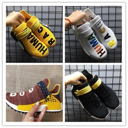 Wholesale Man Big - Big Size 36-47 New 2018 NMD HUMAN RACE Trail boost x Pharrell Williams mens womens Running shoes ultra boosts ultraboost sport Sneakers