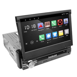 Discount built wifi car dvd player - Universal Android 6.0 Car Multimedia Player 7inch 1 Din Retractable Large Touch Screen Bluetooth FM Radio Bluetooth WIFI GPS with 2GB RAM
