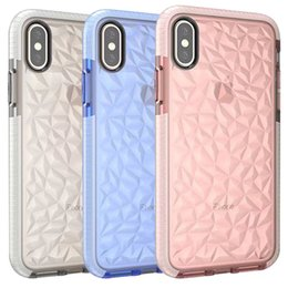 Wholesale Diamond Pattern Iphone Case - For iPhone x Case Soft TPU Diamond Pattern Transparent Clear Phone Case For iPhone X 8 Plus 7 6 Plus