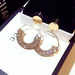gabinetes coreanos Desconto Luxo Diamante Brincos de Argola de Moda Mais Recente de Ouro Do Parafuso Prisioneiro do Dia Dos Namorados Presente Personalidade Brinco De Luxo Para O Partido