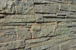 Wholesale Wall Decoration Bricks - Set 5 Plastic Molds For Concrete Plaster Wall Stone Abs Tiles Concrete Mould Brick Mold For Garden Decoration