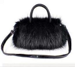 faux fur clutch bags NZ - Litthing Handbag Women Faux Fur Soft Female Shoulder Bag Fashion Lady Messenger Bag Day Clutch Handbag bolsos mujer 2018