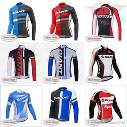 Maglia termica ciclismo gigante online-Cycling Winter Thermal Fleece jersey Pro Giant Long Sleeve Cycling Jersey ciclo sportwear abbigliamento Abbigliamento bici giacca sportiva Y053003