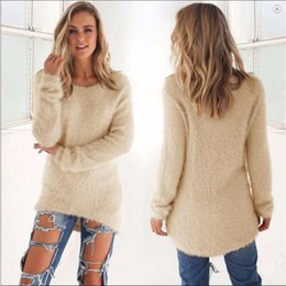 Wholesale Cashmere Tights Women - Wholesale-Women Spring Autumn Fashion 2016 High Elastic Casual Turtleneck Mink Cashmere Sweater Slim Tight Bottoming Knitted Pullovers LL2