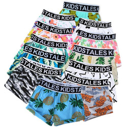 Wholesale 12 Swim - boys shorts summer boy beach shorts kids swimming pant fruit watermelon pineapple leaf flower printing swimwear shorts KKA4051