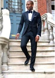 Wholesale designers white groom wedding suits - New Designer Suit Man 2018 Fashion Formal Black 3 pieces Set Tuxedo Slim Fit Man Suit For Wedding Groom Suit Costume Homme