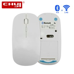 Wholesale Connect Computers - Dual Mode Connect Wireless Mouse Rechargeable Bluetooth Mouse 2.4Ghz Optical Gamer Cordless Computer Gaming Mice for PC Laptop