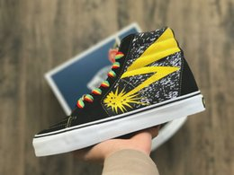 Wholesale chocolate beige - 2018 fashion Vault x Bad Brains Classic Sk8-Hi LX Old Skool Casual Canvas Running Shoes Women Men Black Yellow Designer Sneakers