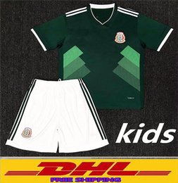 Wholesale Thai Wholesale Jersey - DHL free shipping Top Thai quality 2018 Mexico Kids soccer Jersey world Mexico Child youth football jerseys welcome to order