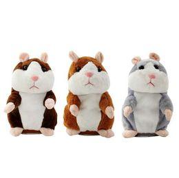 Argentina Talking Hamster Mouse Pet Juguete de peluche Aprender a hablar Record eléctrico Hamster Educativos Niños juguetes de peluche Regalo 16cm supplier talking toy mouse Suministro