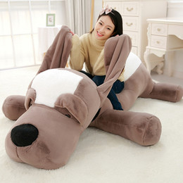 Wholesale giant stuff dog toys - Fancytrader Giant Plush Stuffed Animals Lying Dog Toys Big Soft Sleeping Puppy Dogs Pillow Doll 4 Sizes