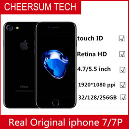 iphone 2g Promotion Apple iPhone 7 / iPhone 7 débloqué 4G LTE Quad core 4.7 '' 12MP 2G RAM 32G / 128G / 256G d'empreinte digitale remise à neuf du téléphone 3pcs