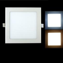 Argentina Downlight LED regulable 3W 4W 6W 9W 12W 15W / 25W Cuadrado Ultrafino SMD 2835 Panel de luces de techo blanco / Blanco cálido Suministro