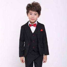 96a1ee609db Costum Homme Kid Suits For Wedding 3Pieces(Jakcet+Pant+Vest+Tie) Latest  Coat Pant Design Wedding Prom Slim Boy Blazer 727