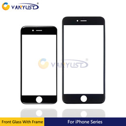 grading panel Promo Codes - Grade AAA Front Touch Screen Panel Outer Glass Lens + Cold Press Middle Frame Bezel + OCA Installed For iphone 8 7 7g plus 6 6s plus