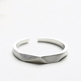 Wholesale Jewelry Adjustable - Original adjustable charm Jewelry fashion sterling silver 925 ring four sides love the gift of men and women rings china direct wholesale