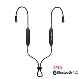 MMCX Bluetooth 4.1 беспроводная Detchable кабель наушников поддержка aptX для Tennmak про Шур SE215 SE846 UE900 se535 в фортепиано от Поставщики mmcx кабели