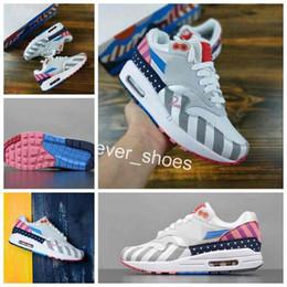4a4c8de19a59f Nuevo 2018 Parra 1 Running Shoes marca Mujeres Hombres Maxes Designer  Zapatos Informales Blanco Multi Air Cushion Zapatillas Deportivas Sneakers  36-45