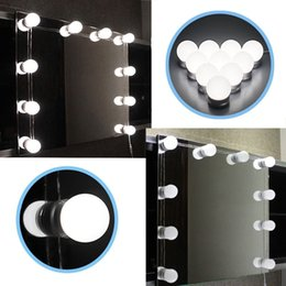 Wholesale touch wall dimmer led - Hollywood LED Vanity Light 6500K White Makeup Mirror Light with Power Adapter and Dimmer Support Stepless Dimmable for Makeup Dressing Table