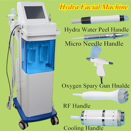 Wholesale Newest Jet - Newest 5 in 1 deep dermabrasion Water Hydra facial Skin Deep Cleansing Oxygen Jet Cold Hammer BIO Face Lift microdermabrasion Machine