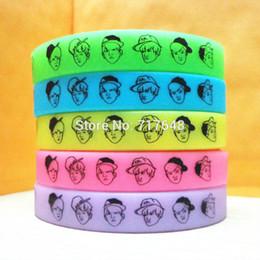 Wholesale Glow Dark Silicone Bracelets - 1pc glow in the dark EXO Wristband Silicone Bracelets free shipping