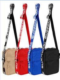 Wholesale camp sack - fashion 18 SS nylon shoulder bag fashion outdoor bags black red color in stock