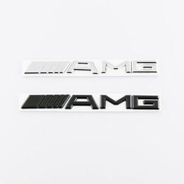 Emblèmes 3m logo en Ligne-Mercedes benz plastique ABS argent noir 3M AMG autocollant logo emblème voiture insignes