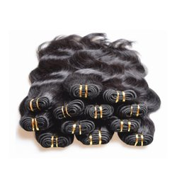Wholesale Body Hair Bleaching - wholesale cheap brazilian body wave human hair bundles weaves 1kg 20pieces lot natural black color 5a grade quality 50g pcs