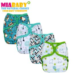 Wholesale Bamboo Wash Cloths - Miababy Onesize CLOTH DIAPER COVER WITH OR WITHOUT BAMBOO INSERT,waterproof and breathable, easy to wash off the solid.