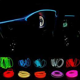 voiture légère froide Promotion Nouveau 2 mètres atmosphère lampes voiture intérieur lumière ambiante lumière froide ligne bricolage décoratif tableau de bord console porte voiture style