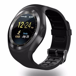 b33cd54ca Y1 Round Nano SIM Card Fitness Tracker Smartband Phone Call Smart Watch  with Whatsapp Facebook Support Pedometer Sleep Monitor affordable smart  watch phone ...