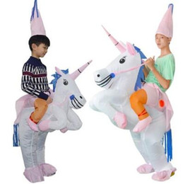 baa21e553d Gonfiabile Costume Unicorno Blow Up Suit Birthday Dress Cosplay Outfit  Adulto Kids Party Unicorn Costume Party Supplies CCA10490 3 pezzi economico  bambini ...