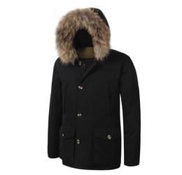 2019 a estrenar para hombre Arctic Down Parka con gran abrigo de invierno de piel de mapache extraíble caliente desde fabricantes