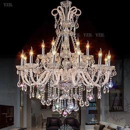 douille de lampe à suspension Promotion Lustre Lustres en cristal modernes Salle de séjour Chambre lampe intérieure K9 lustre en cristal de lustre au plafond lustre LED lumières