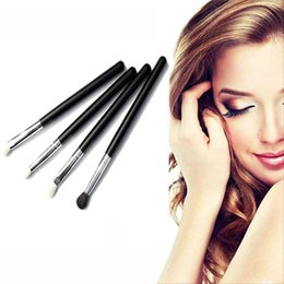 4шт/комплект профессиональный макияж красоты косметические инструмент тени для век порошок основа смешивать щетка набор новый список supplier brush list от Поставщики список кистей