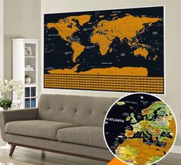 Перевозка груза падения большой размер Deluxe Edition Карта Scratch World С нуля Off Layer Визуальный Журнал Путешествий для путешествий карты стикеры стены 82.5x59 см от Поставщики оптовый материал наклейки