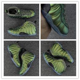 Wholesale Day Running Lights - Wholesale hot sell Penny Hardaway Shine Green Basketball Shoes Men Hardaway Green Shine Running Sneakers Free Drop Shipping