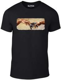 Camiseta para hombre de la mano de juego - Regalo Gamer PS3 Xbox Retro Arcade Culture Casual Manga corta Estampado 100% desde fabricantes