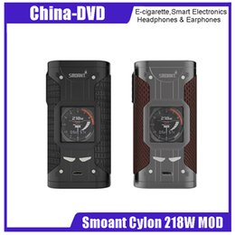 Tanque w online-Caja original Smoant Cylon Mod 218W TC cigarrillo electrónico mod vape 218 W e cigarrillo fit 510 tank rta rda para vape vaporizador